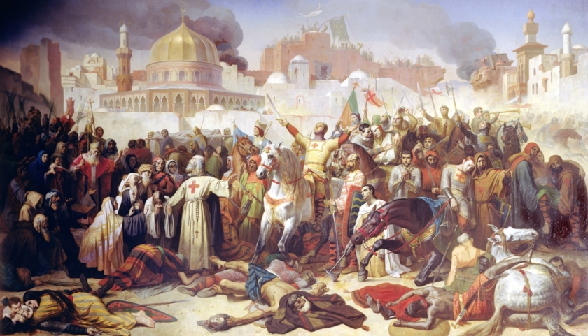 Taking of Jerusalem by the Crusaders, 15th July 1099, 1847 (oil on canvas)
